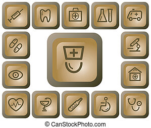 Medical buttons - Medical button set