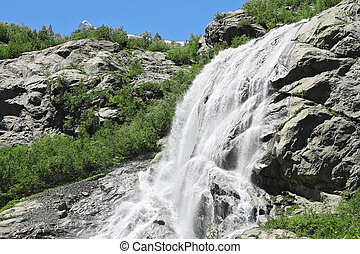 Alibek waterfall Dombay mountains The Northern Caucas