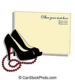 Beautiful shoes with a red beads