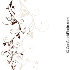 Beautiful floral background - Beautiful, abstract floral...
