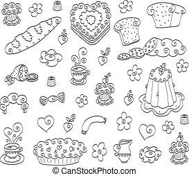 Doodle food set