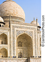 Taj Mahal - The dome and main entrance of the Taj Mahal...