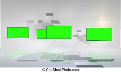 Video of screens in chroma key - Animation of screens in...