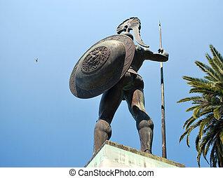 estatua, aquiles