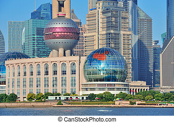 oriental pearl tower in Shanghai - SHANGHAI, CHINA - MAY 27:...