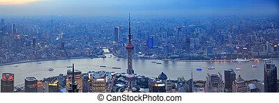Shanghai aerial panorama