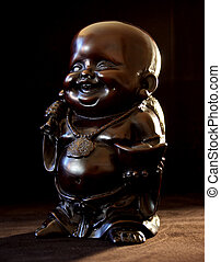 Buddha bringing the light - Smiling Buddha brings light to...