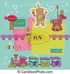 Scrapbook Design Elements - Birthday Party Child Set - in vector