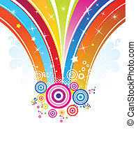 abstract rainbow explode vector illustration