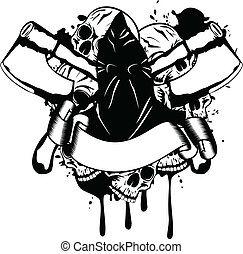 executioner - Vector illustration executioner and skull