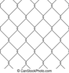 Wire fence - Wire Fence Seamless Illustration on white...