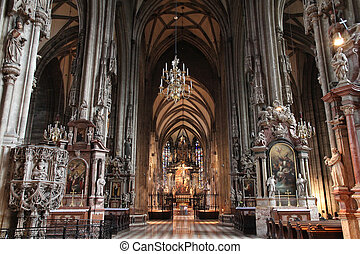 Vienna cathedral - Vienna, Austria - famous Stephansdom...