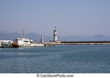 Turkish coastguard in Alanya Harbour