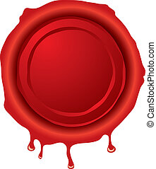 wax seal - Illustration of an old fashioned hot wax seal in...