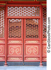 Chinese court style door - This is a Chinese court style...