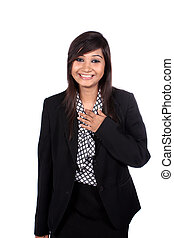 Laughing Indian Busineswoman - A laughing young Indian...