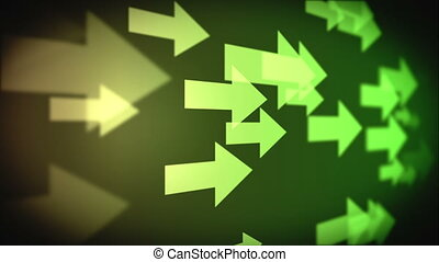 Video of multiple green arrows - Animation of multiple green...