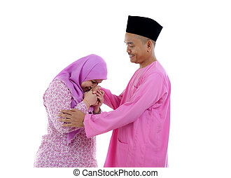 traditional malay greeting during raya festival