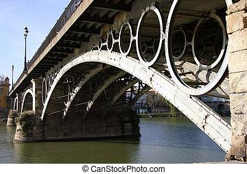 Triana bridge over the river Guadalquivir, Sevilla