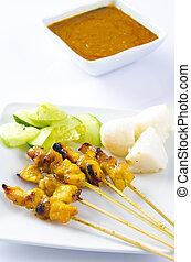 famous food, malaysian satay