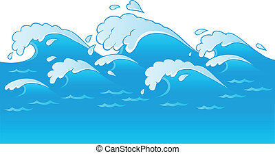 Waves theme image 3 - vector illustration.