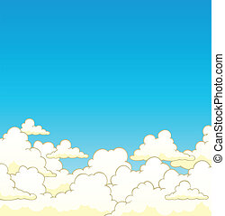 Cloudy sky background 6 - vector illustration.