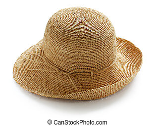 raffia hat - wide brim ladies raffia summer straw hat