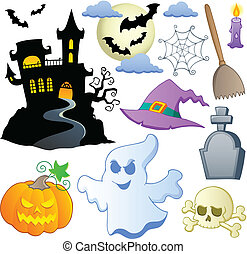 Halloween theme collection 1 - vector illustration.