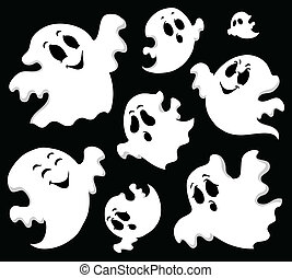 Ghost theme image 1 - vector illustration