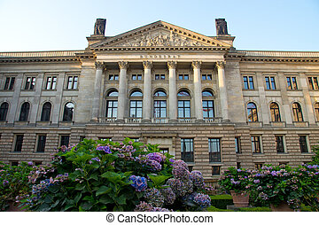 The Bundesrat in Berlin - Building of the federal council of...