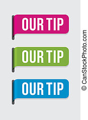 Modern label %u2013 our tip - Use this label to highlight...