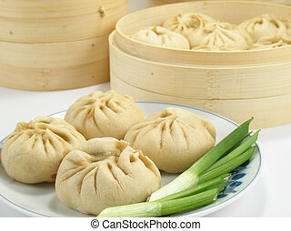 Filled Chinese Buns - Baozi are steamed buns filled with...