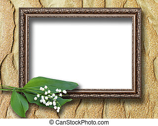 frame for pictures on the background of sand dunes