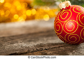 Abstract Christmas background - Part of Christmas ball on...