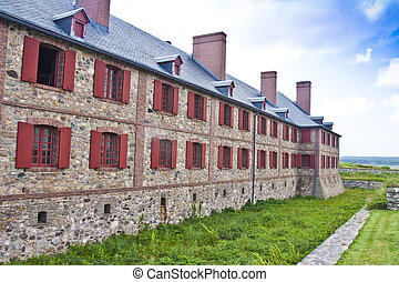 Fortress Louisbourg Bastion Barracks - Military barracks at...