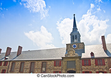 Fortress Louisbourg Bastion Barracks and Bell Tower -...