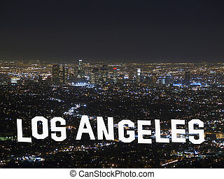 Downtown Los Angeles Night - Downtown Los Angeles California...
