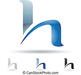 Abstract icon for letter H - Vector illustration of abstract...