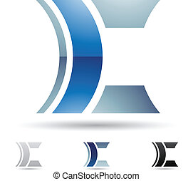 Abstract icon for letter C - Vector illustration of abstract...