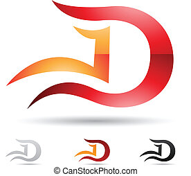 Abstract icon for letter D - Vector illustration of abstract...