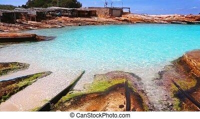 Formentera Es Calo port blue beach