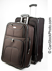 Set of Luggage - Black Set of Luggage On Wheels with Handle...