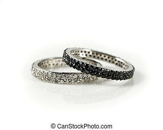 ethnical wedding rings - Black and white engagement rings...