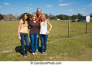 Beautiful Family on Farm - Grandparents and their beautiful...