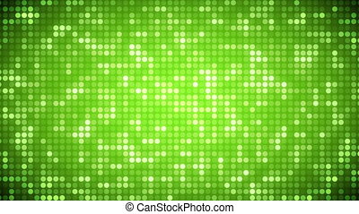 Video of green dots - Animation of green dots