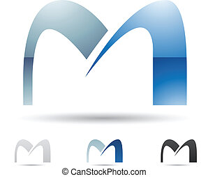 Abstract icon for letter M - Vector illustration of abstract...