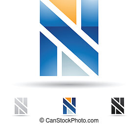Abstract icon for letter N - Vector illustration of abstract...