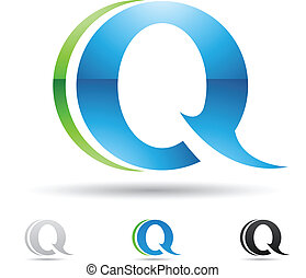 Abstract icon for letter Q - Vector illustration of abstract...