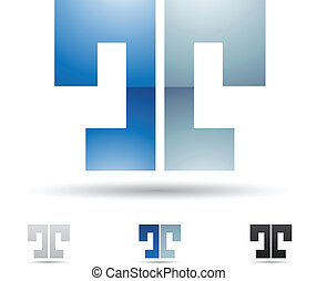 Abstract icon for letter T - Vector illustration of abstract...