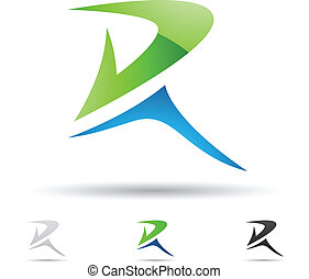 Abstract icon for letter R - Vector illustration of abstract...